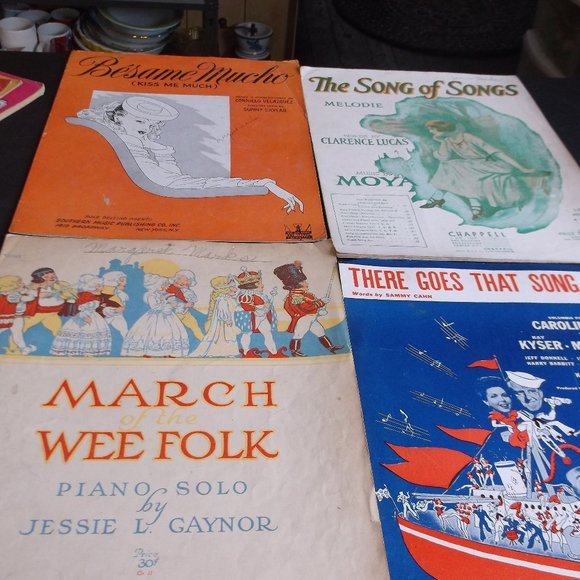 antique sheet music.  4 total